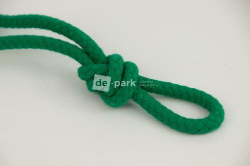 Šňůra - bavlněná - tmavě zelená