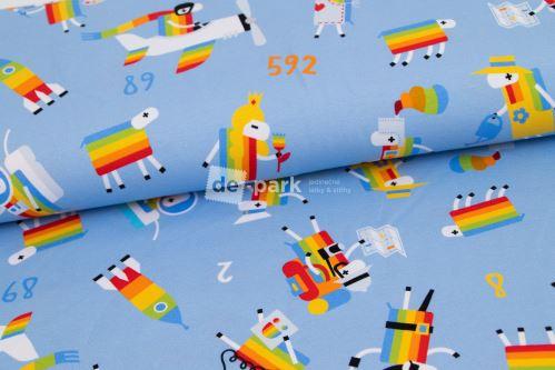 DESIGNED BY DE-PARK - úplet Ovečky z Déčka - světle modrá