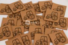 Koženkový štítek - TRAKTOR - měděná