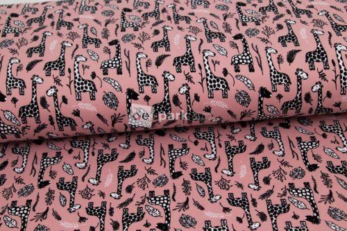 Úplet - Žirafy na starorůžové