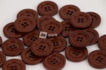 DE-PARK knoflíky - 3cm - čokoládově  hnědá 729