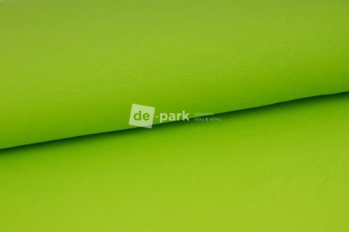 Limetkovo zelená teplákovina