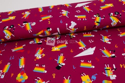 DESIGNED BY DE-PARK - teplákovina Ovečky z Déčka - bordo