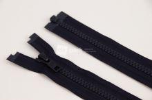 Zip YKK - 60cm - černomodrý dělitelný