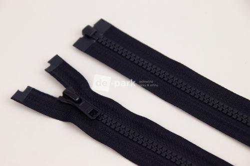 Zip YKK - kostěný dělitelný - černomodrá 549