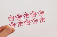 Nažehlovací velikostní štítky - vel. 98 - sytě růžová