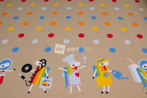 DESIGNED BY DE-PARK - bordura Ovečky z Déčka - béžová