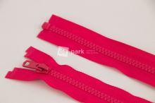 Zip YKK - 55cm - sytě růžový dělitelný