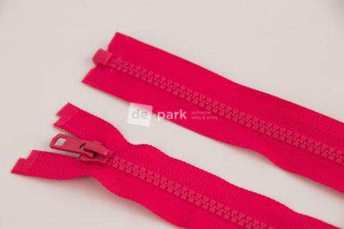 Zip YKK - kostěný dělitelný - sytě růžová - 345
