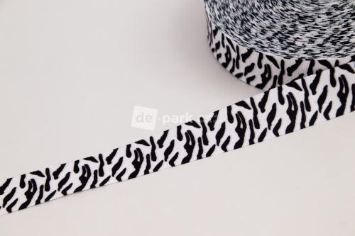 Rypsová stuha - Zebra