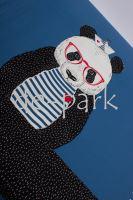 Panel - Panda námořník - modrá 2.JAKOST