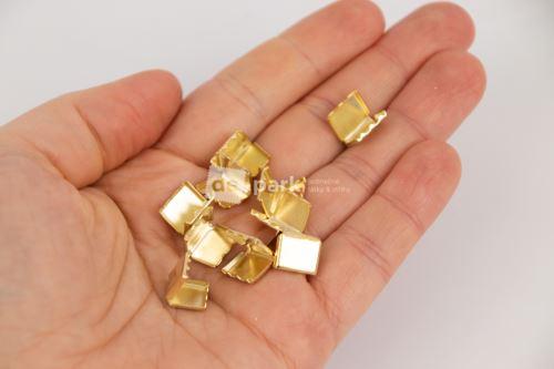 Kovové koncovky - zlaté10ks