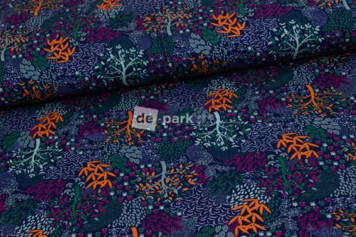 Úplet - Stromy - modrooranžové