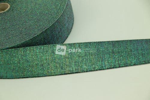 Guma - metalická zelená - 4 cm