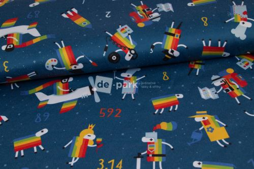 DESIGNED BY DE-PARK - ATLAS SATÉN - Ovečky z Déčka s hviezdami