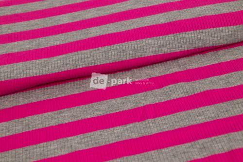 Viskózové prúžok - ružová / sivá