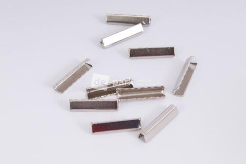 Kovové koncovky - stříbrné dlouhé