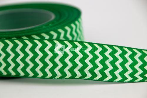 Rypsová stuha - cikcak - zelená