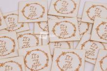 Koženkový štítek - IT´S MY STYLE - bílá