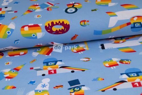 DESIGNED BY DE-PARK - úplet DUHÁČEK - svetlo modrá