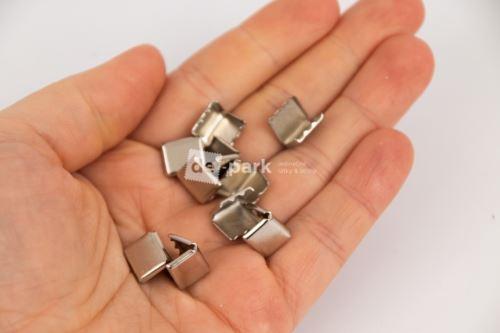Kovové koncovky - stříbrné 10ks