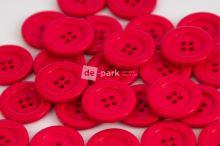 DE-PARK knoflíky - 3cm - sytě růžová 345