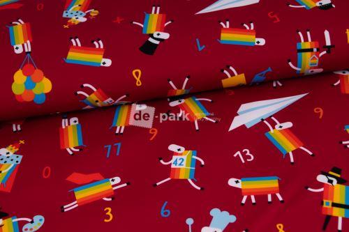 DESIGNED BY DE-PARK - Letní softshell - Ovečky z Déčka - bordo