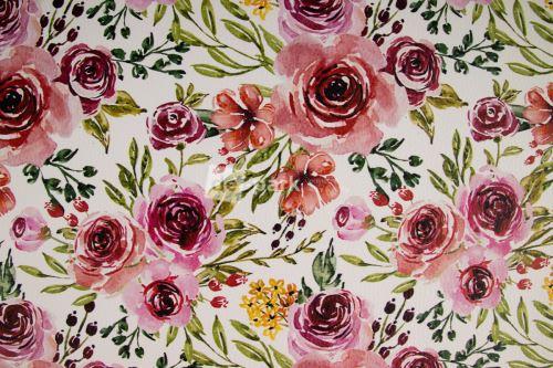 DESIGNED BY DE-PARK - Koženkový panel - Akvarelové květy
