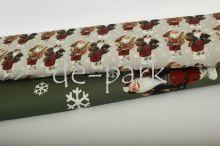 Bordura - Vánoce - khaki