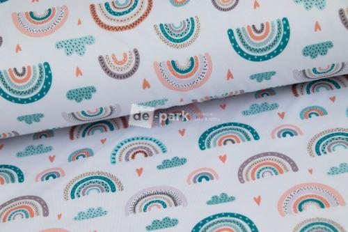 DESIGNED BY DE-PARK - Počesaný funkční úplet - Duhy pro holky