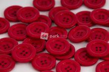 DE-PARK knoflíky - 2cm - malinová
