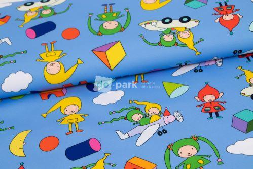 DESIGNED BY DE-PARK - Letné softshell - Kúzelná škôlka - modrá