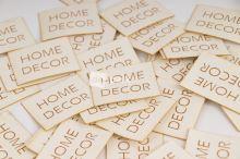 Koženkový štítek - HOME DECOR - bílá