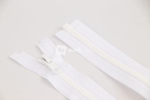 Zip YKK - kostěný dělitelný - bílá - 001