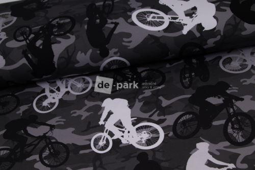 DESIGNED BY DE-PARK - Teplákovina - Cyklisti na maskáči
