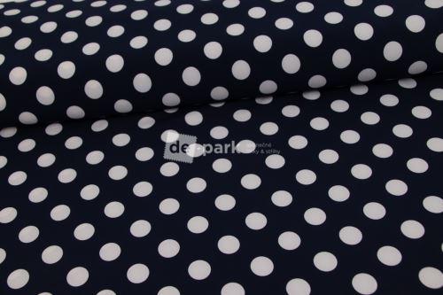 Silki - velký puntík tmavě modrý