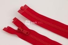 Zip YKK - 60cm - červený dělitelný
