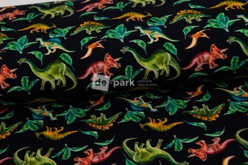Teplákovina - Dinosauři na tmavě  modré