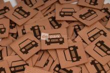 Koženkový štítek - AUTÍČKO - měděná
