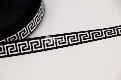 Rypsová stuha - AFRODITA - černobílá