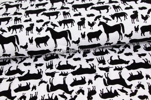 Úplet - Domácí zvířátka - černobílá