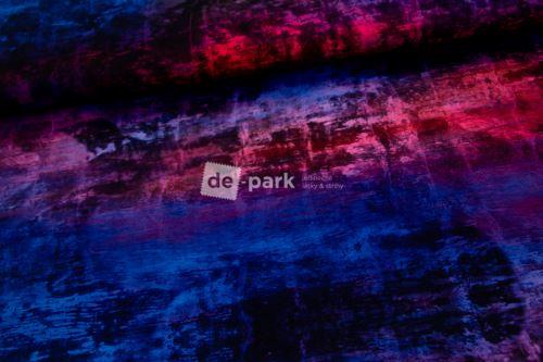 DESIGNED BY DE-PARK - Push up úplet na legíny - Modročervený beton