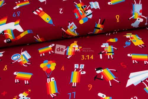 DESIGNED BY DE-PARK - Zimní softshell - Ovečky z Déčka - bordo