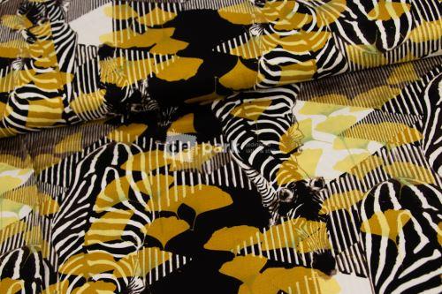 Zebra - pružná tkanina
