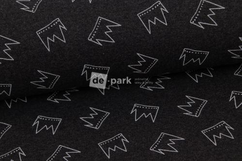 Kolekce nápletů - korunky na tmavě šedé